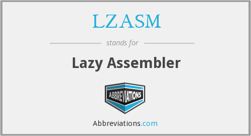What does LZASM stand for?