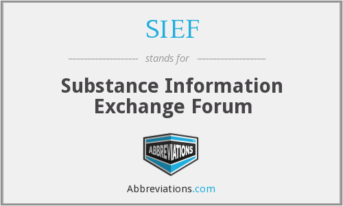 What does SIEF stand for?