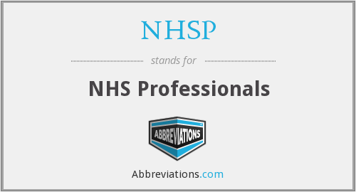 What does NHSP stand for?
