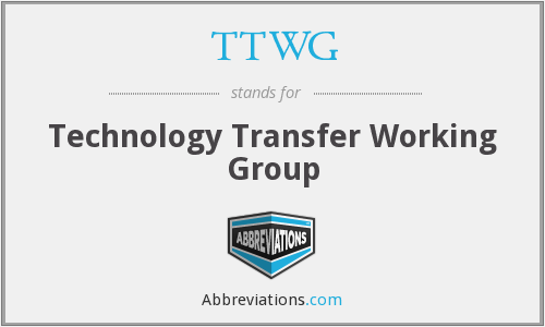 What does TTWG stand for?