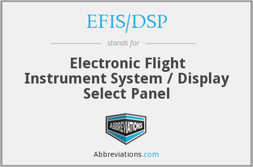 What does EFIS/DSP stand for?