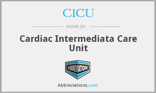 What does CICU stand for?