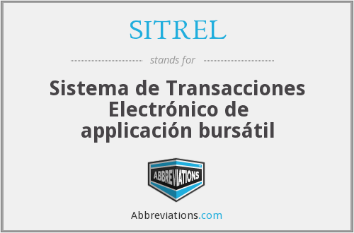 What does SITREL stand for?