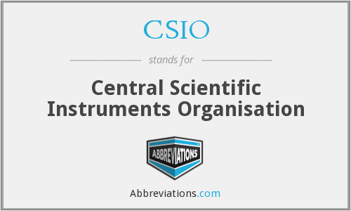 What does CSIO stand for?