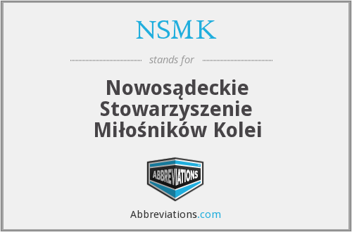 What does NSMK stand for?