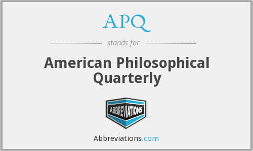 What does APQ stand for?