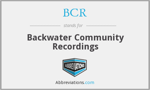 What does BCR stand for?