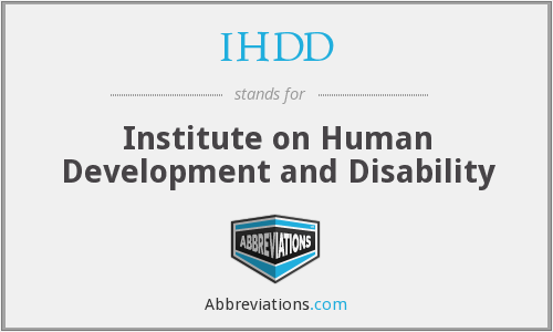 What does IHDD stand for?