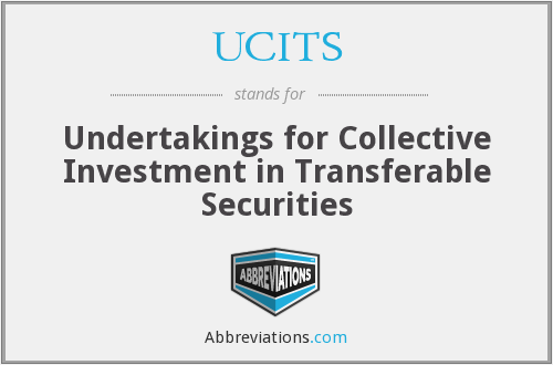 What does UCITS stand for?