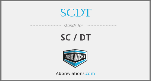 What does SCDT stand for?