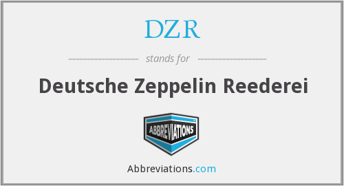 What does DZR stand for?