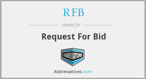 What does RFB stand for?