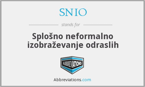 What does SNIO stand for?