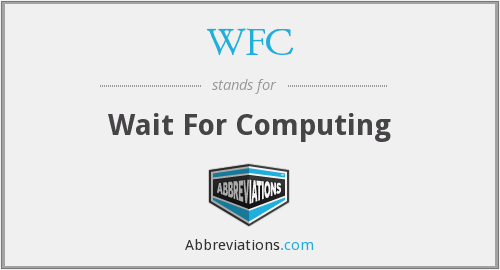 What does WFC stand for?