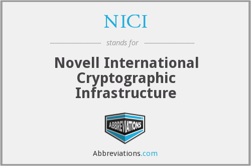 What does NICI stand for?