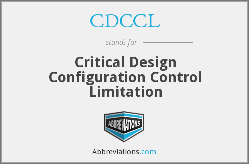 What does CDCCL stand for?