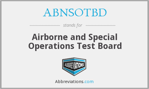 What does ABNSOTBD stand for?