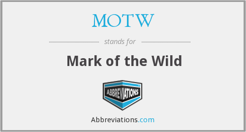 What does MOTW stand for?