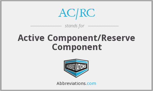 What does AC/RC stand for?