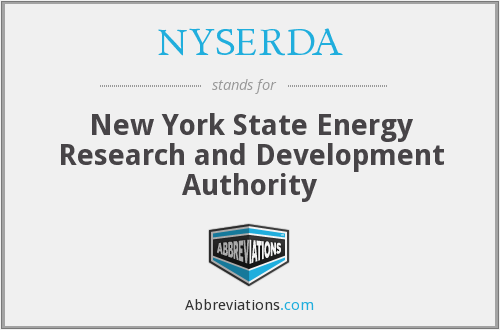 What does NYSERDA stand for?