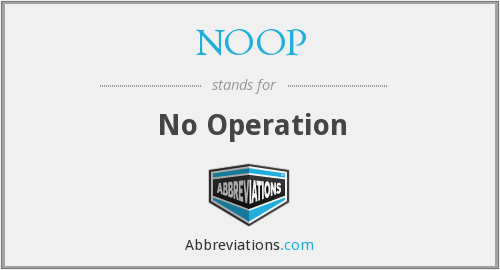 What does NOOP stand for?