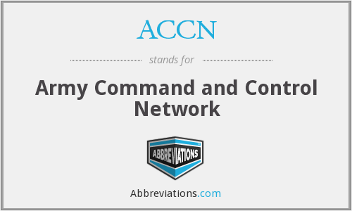 What does ACCN stand for?