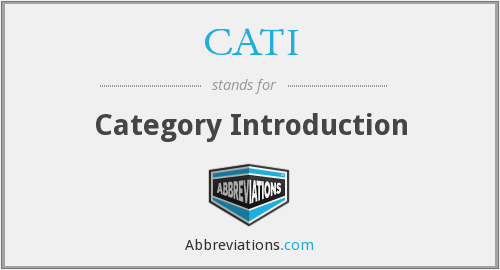 What does CATI stand for?