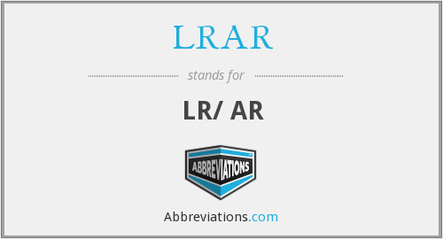 What does LRAR stand for?