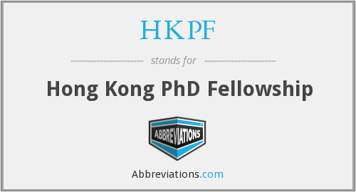What does HKPF stand for?