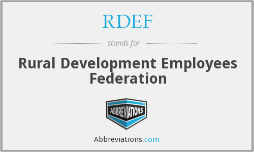 What does RDEF stand for?