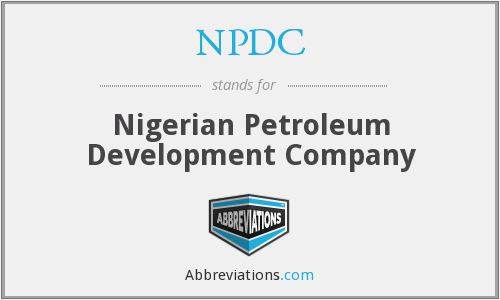 What does NPDC stand for?