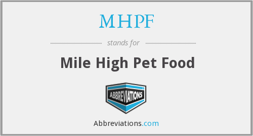 What does MHPF stand for?