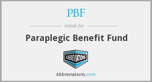 What does PBF stand for?