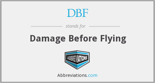 What does DBF stand for?