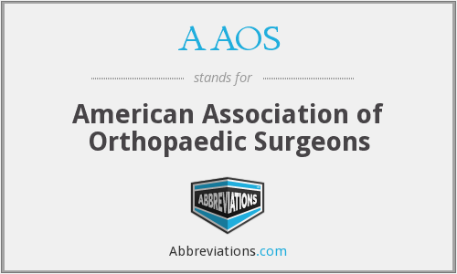 What does AAOS stand for?