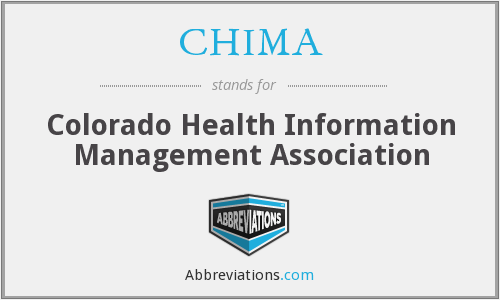 What does CHIMA stand for?