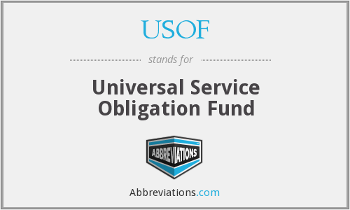 What does USOF stand for?
