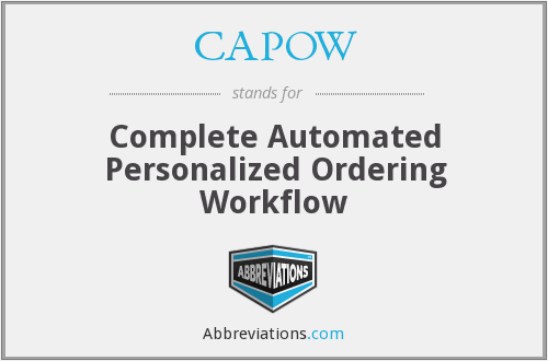 What does CAPOW stand for?