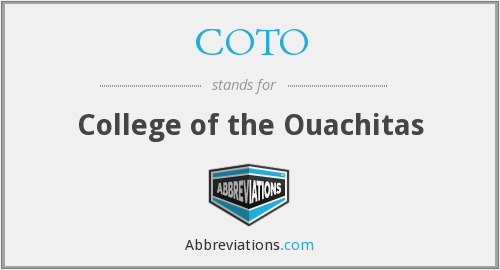 What does COTO stand for?