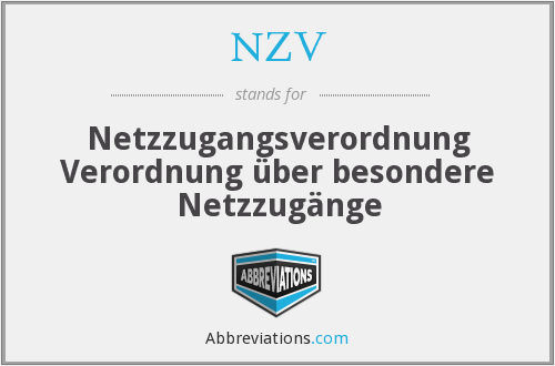 What does NZV stand for?