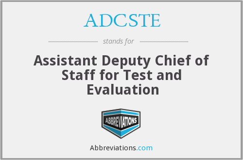 What does ADCSTE stand for?