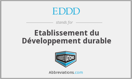 What does EDDD stand for?