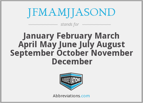 What does JFMAMJJASOND stand for?