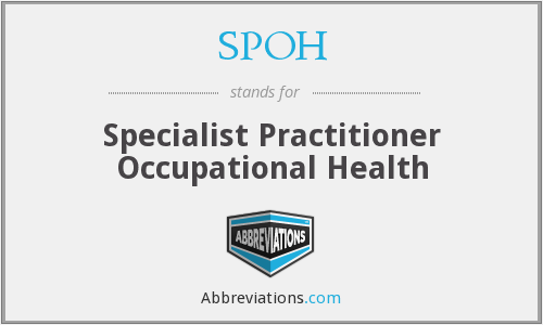 What does SPOH stand for?