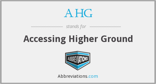 What does AHG stand for?