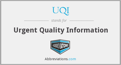 What does UQI stand for?