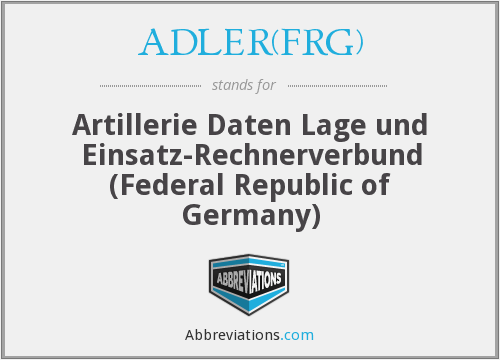 What does ADLER(FRG) stand for?