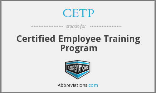 What does CETP stand for?