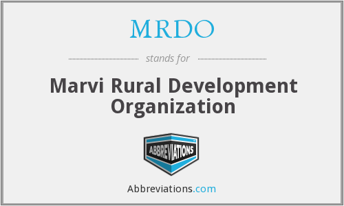 What does MRDO stand for?