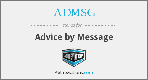 What does ADMSG stand for?